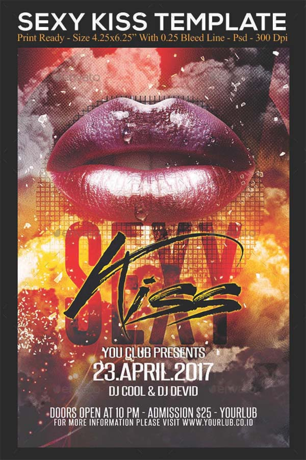Sexy Kiss Flyer Template