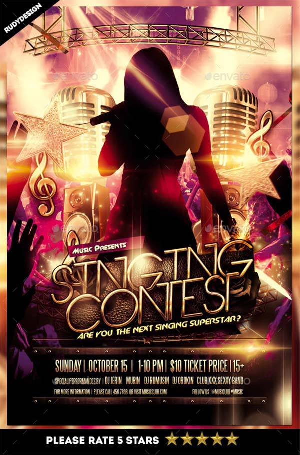 Singing Talent Contest Flyer Template