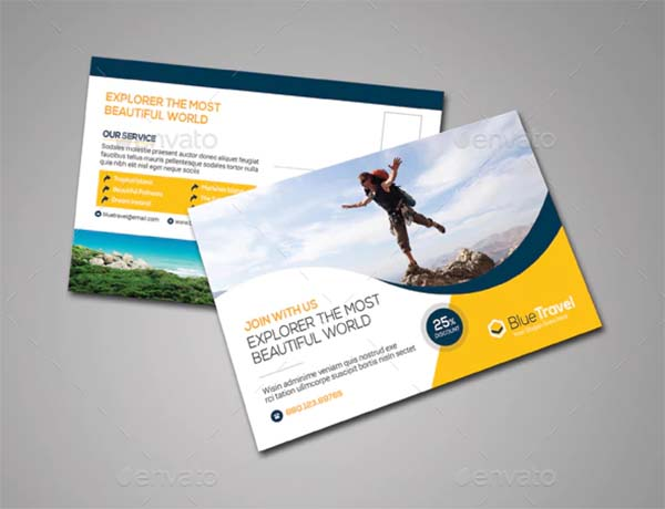 Smart Travel Postcard Template