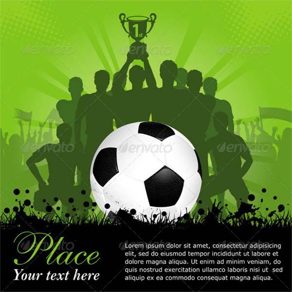 Soccer Illustrator Poster Template