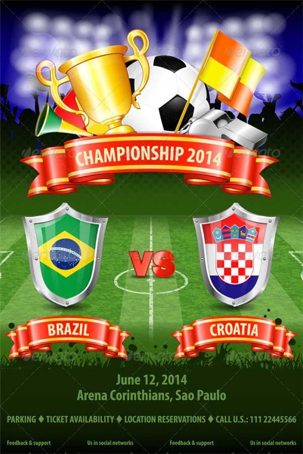Soccer PSD Design Poster