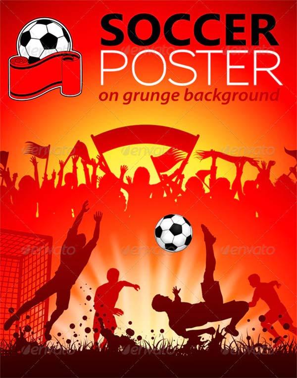 Soccer PSD Poster Design Template