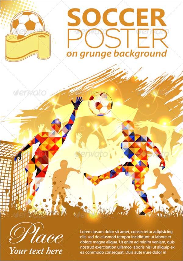 Soccer PSD Poster Design