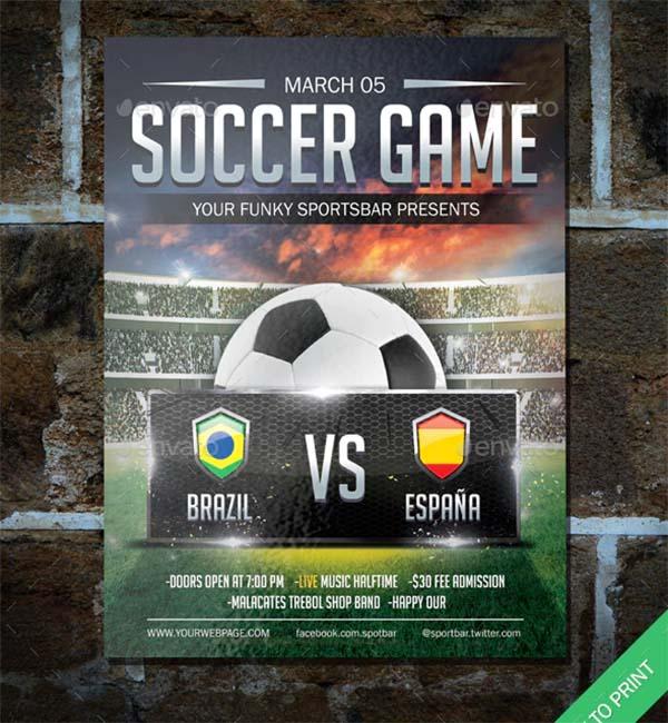 Soccer PSD Poster Template
