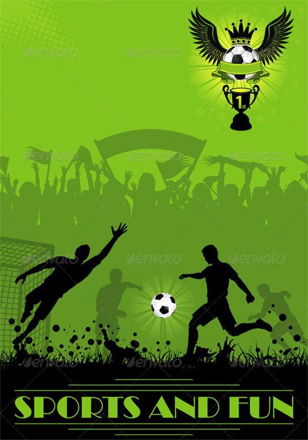 Soccer Poster Design PSD