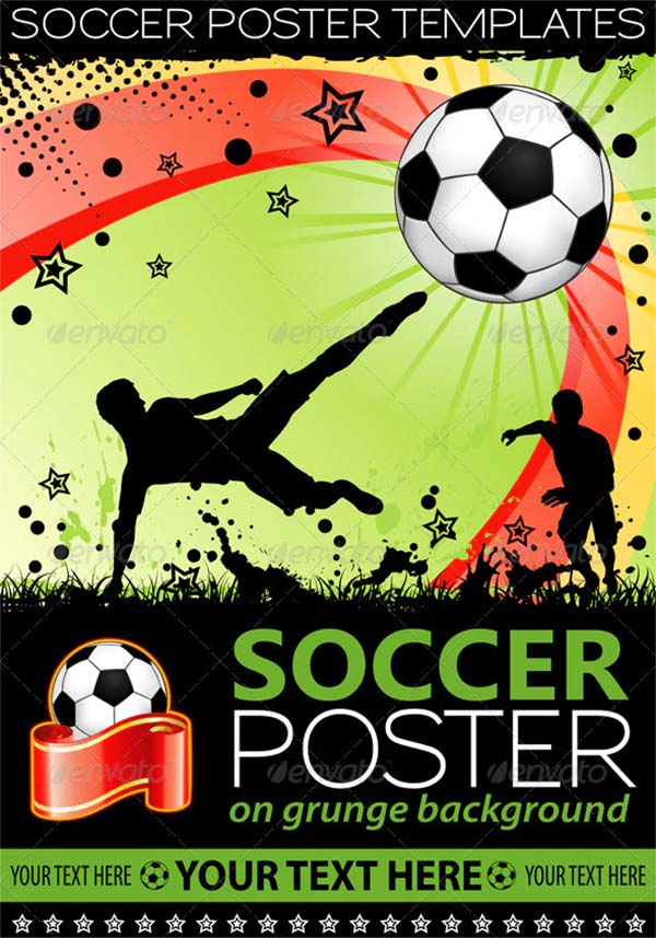 Soccer Poster Design Template