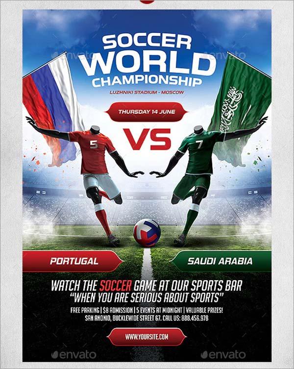 Soccer Poster PSD Design Template