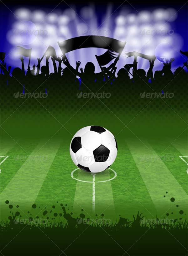 Soccer Poster PSD Design