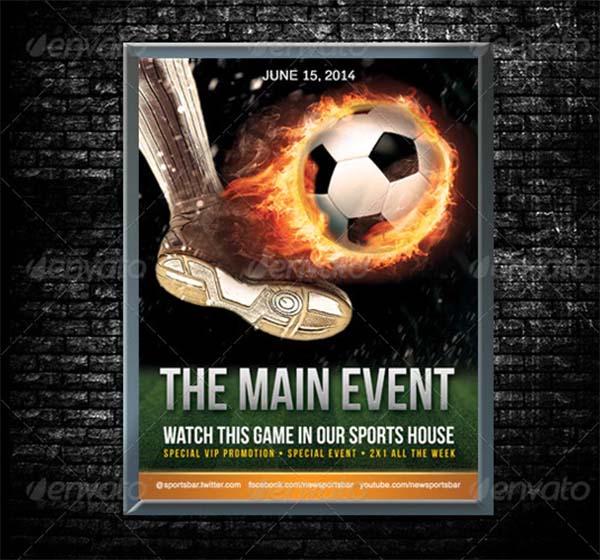Soccer Poster PSD Template
