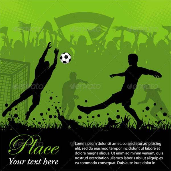 Soccer Poster Vector Template