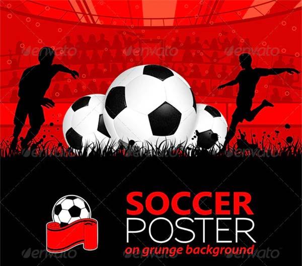 Soccer Vector EPS Poster Template