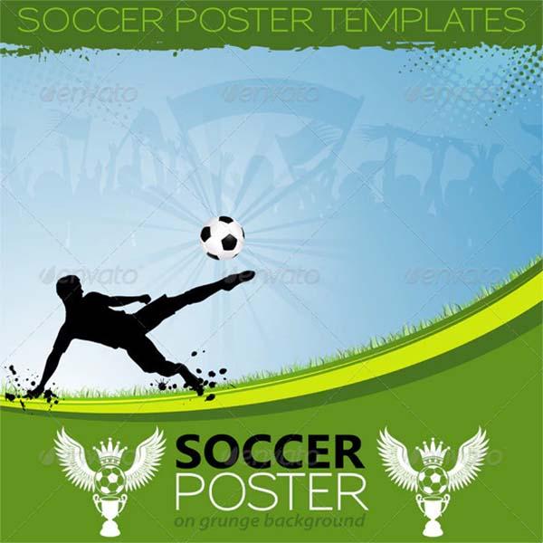 Soccer Vector Poster Template