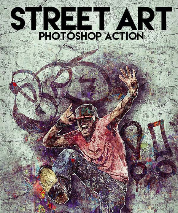 Street Art Photoshop Action Design