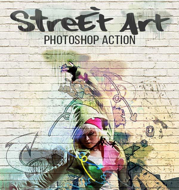 Street Art Photoshop Actions Design
