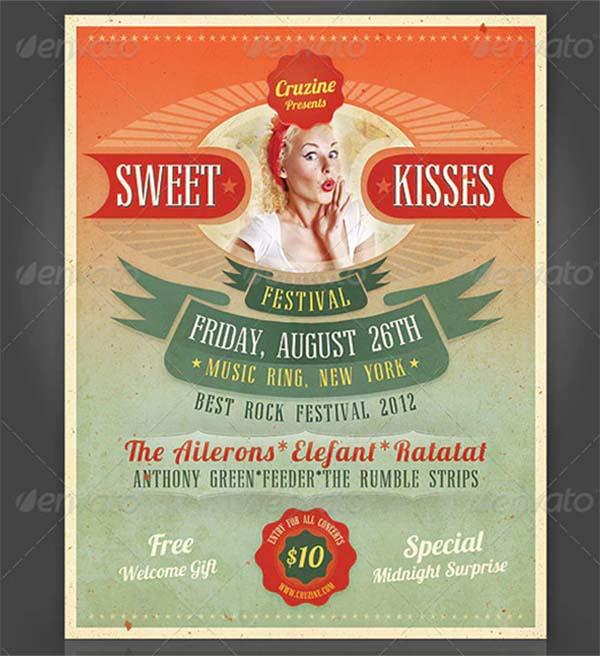 Sweet Kisses Festival Flyer