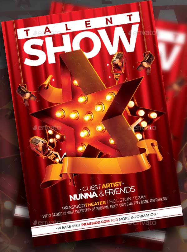 Talent Show Flyer Templates
