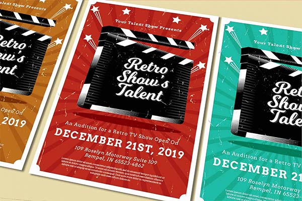 Talent Show PSD Flyer Design