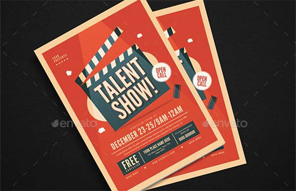 Talent Show PSD Flyer Template