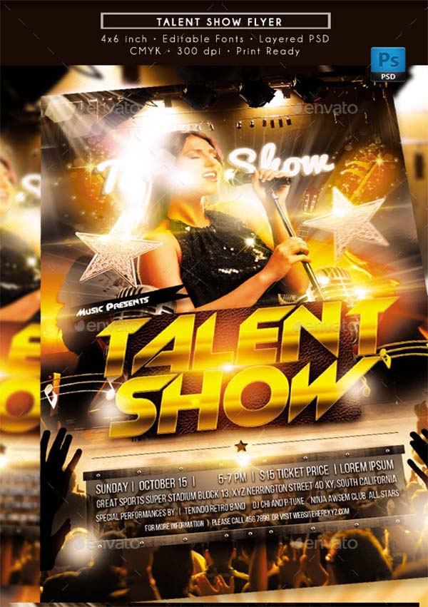 Talent Show PSD Flyer