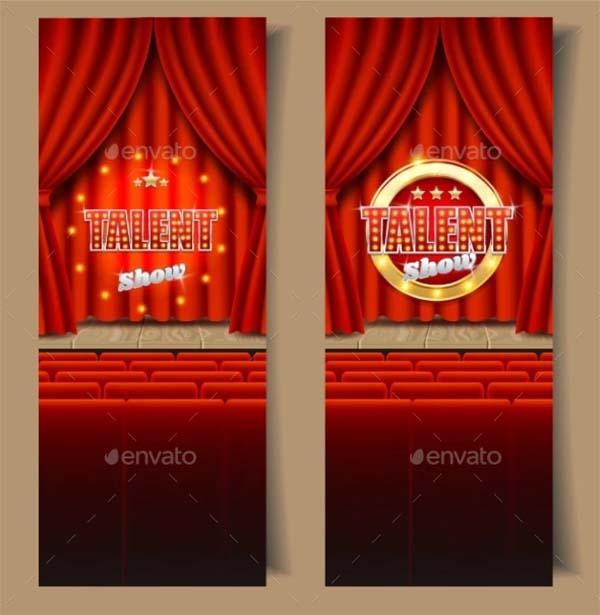 Talent Show Vector Banner Template Set
