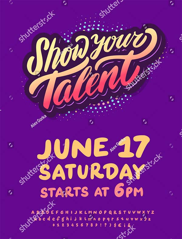 Talent Show Vector Flyer Design
