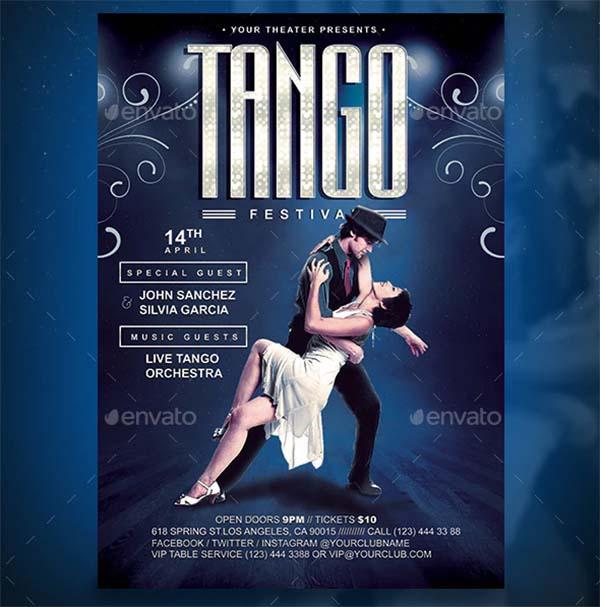 Tango Festival PSD Flyer