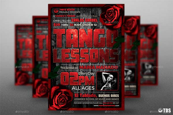 Tango Flyer PSD Template