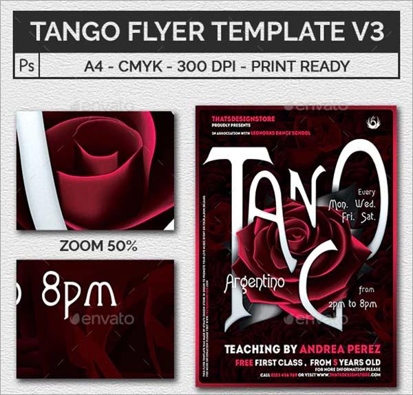 Tango Flyer Template Design
