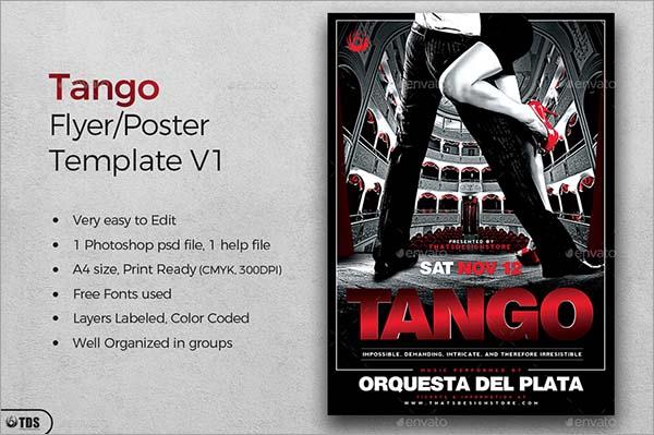 Tango Flyer Template