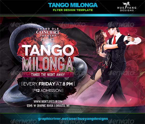 Tango Milonga Flyer Template