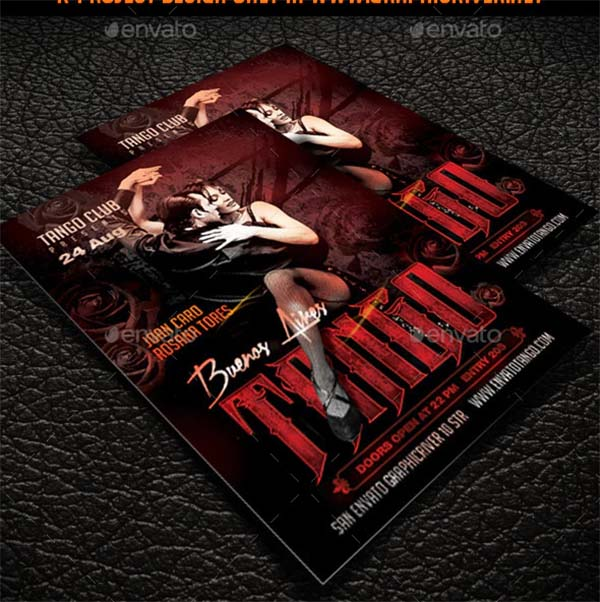 Tango Party Flyer Template