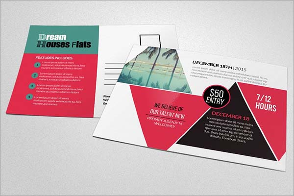 Tour Travel & Holiday Post Card Template