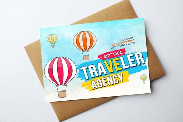 Tour Travelling Card Template
