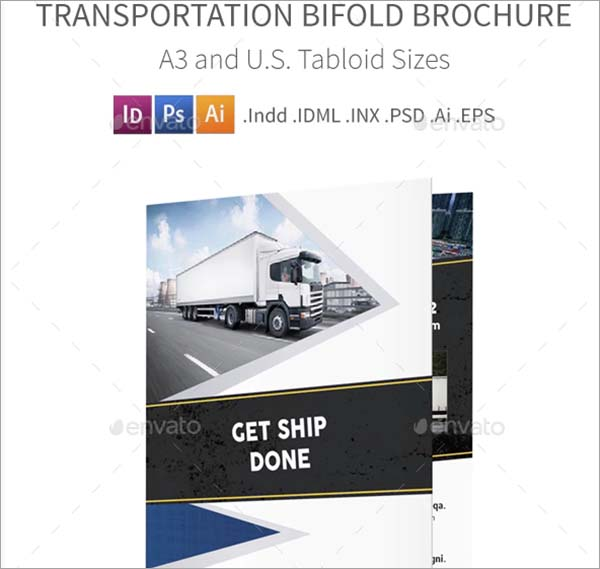 Transportation Company Bifold and Halffold Brochure
