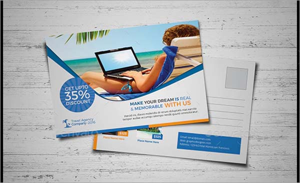 Travel Agency Postcard PSD Design