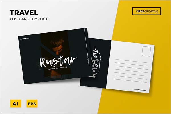 Travel Postcard Design PSD