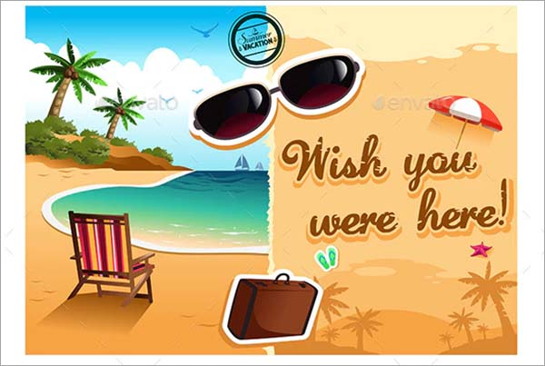 Travel Postcard PSD Design Template