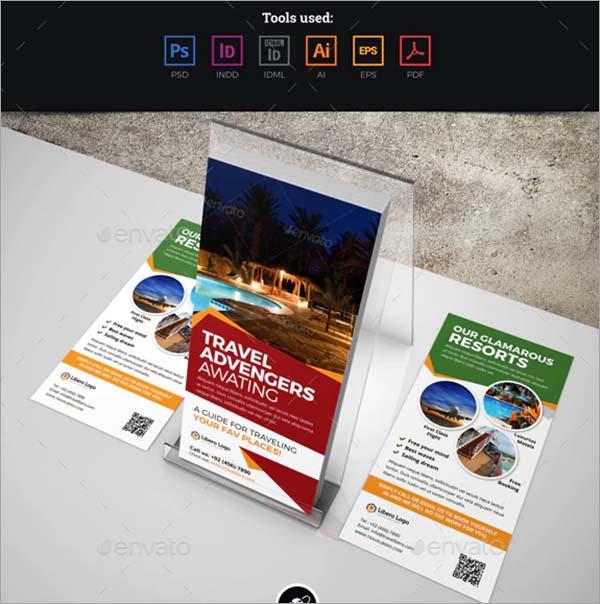 Travel Postcard Rackcard DL Flyer Design