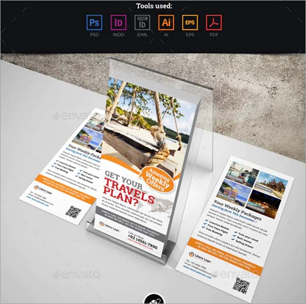 Travel Postcard Rackcard DL Flyer Template