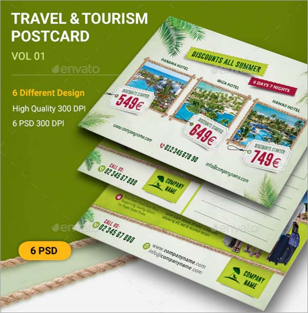 Travel & Tourism Postcard Template