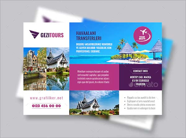 Travel Tours PSD Postcard Templates