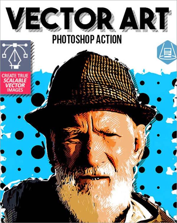 True Vector Art Photoshop Action