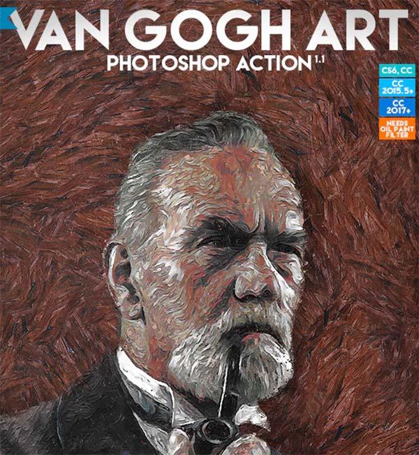 Van Gogh Art Photoshop Action