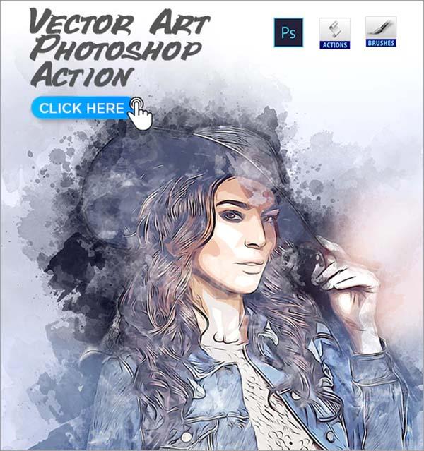 Vector Art PSD Action