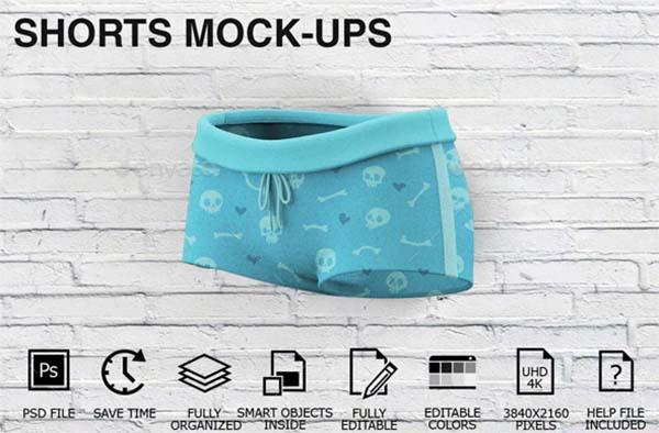 Woman Clothing Shorts PSD Mockups
