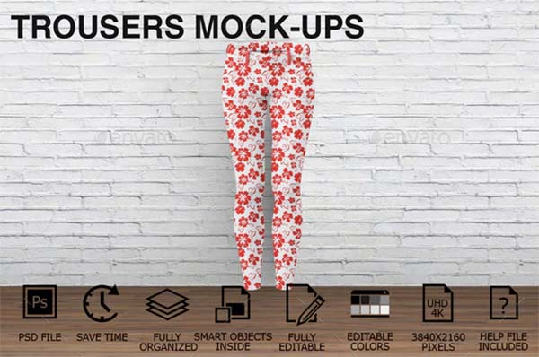 Woman Clothing Trousers Mockups