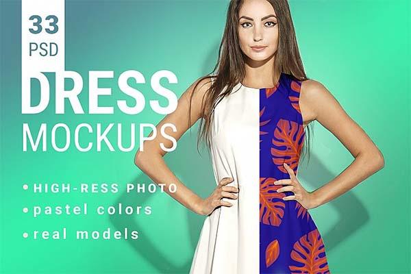 Woman's Dress Mockup Set