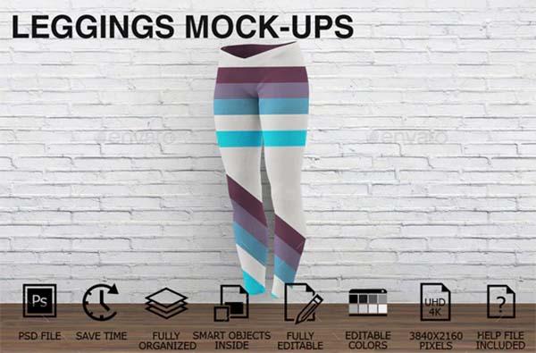 Women Clothing Leggings Mockups