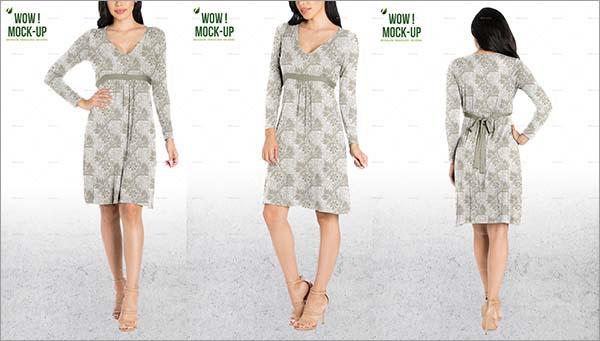 Women Dress Mock-up Design