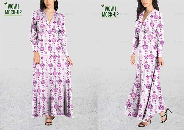 Women Dress PSD Mock-up